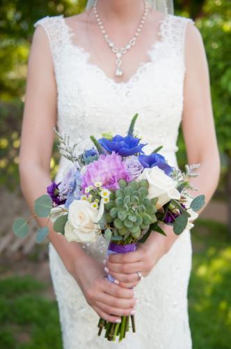 Succulent wedding bouquet, color variant